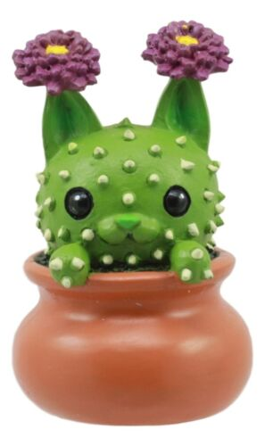 Cattus Cactus Cat In The Pot Figurine Whimsical Cat That Transforms Into Cactus