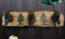 Rustic Forest Strolling Black Bears by Pine Trees 3 Pegs Wall Hooks Plaque 16""