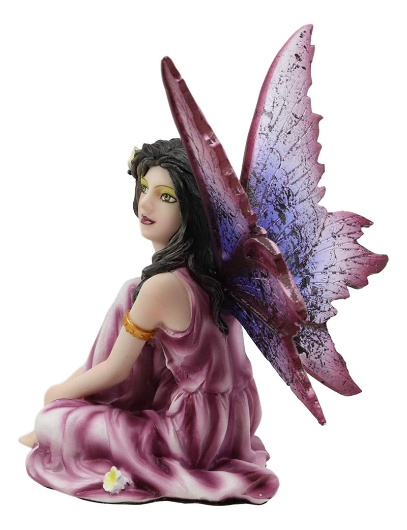 "Ebros Beautiful Purple Fairy Gazing Into The Sky Statue 5.25"" H Decorative Mythical Fantasy Forest Magic Figurine Collectible Garden Fairies Decor"