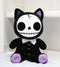 "Furry Bones Black Voodoo Kitten Cat With Bowtie Plush Toy Doll 10""H Collectible"
