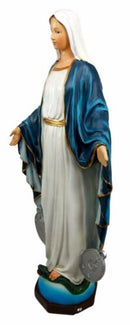 "Catholic Church Sacred Heart Of Mary Madonna Decorative Figurine 12.25"" Tall"