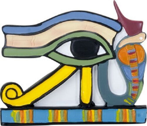 Ebros 2.75 Inch Egyptian Udjat Eye Magnet Set Of 3 Pieces Refrigerator Magnet - Ebros Gift
