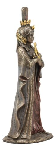 "Ancient Egyptian Queen Cleopatra Statue Goddess Isis Decorative Figurine 12""H"