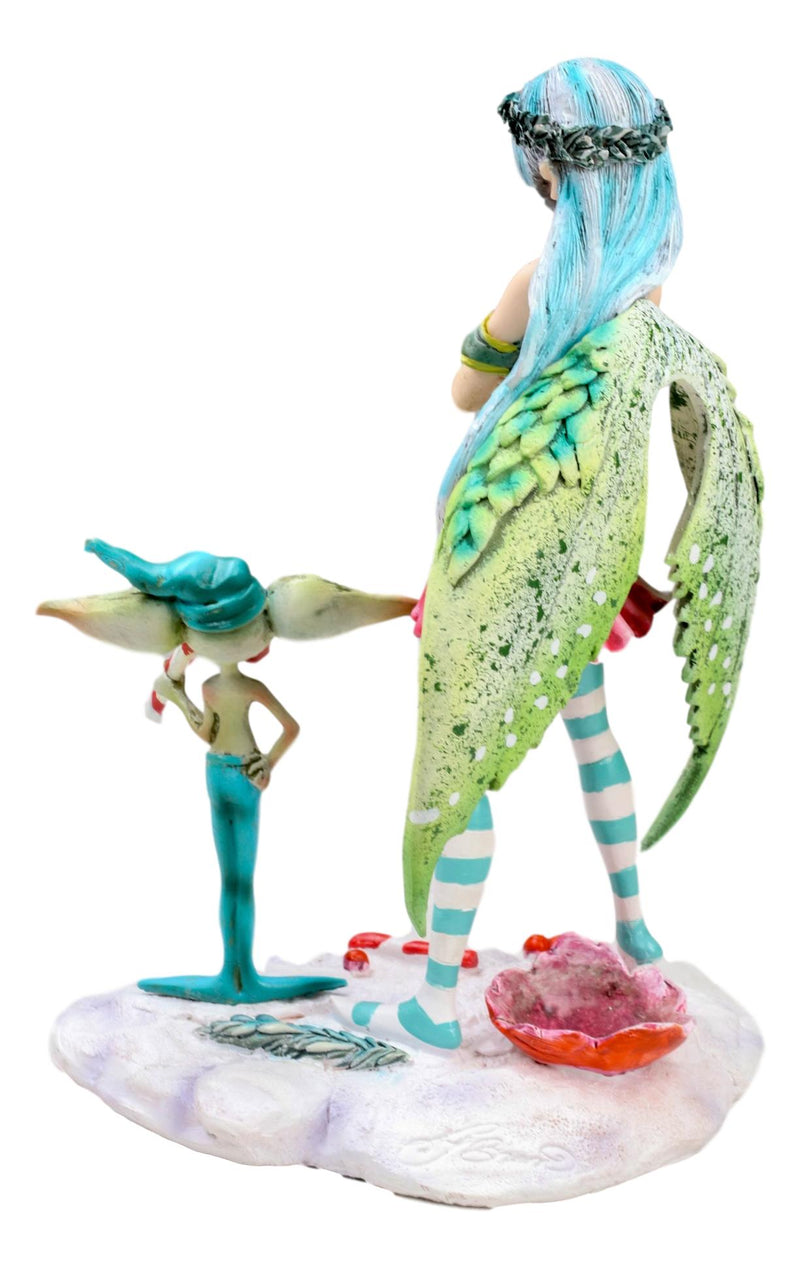 Amy Brown Christmas Fairy And Candy Cane Gremlin Naughty List Collectible Statue