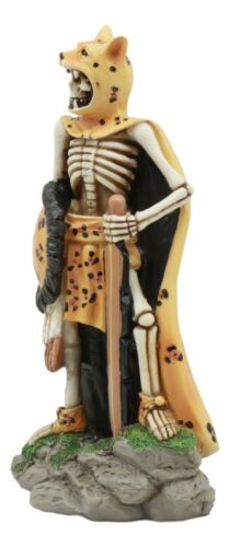 "Ebros Day Of The Dead Aztec Elite Jaguar Warrior Statue 6.75""Tall Mesoamerica Tezcatlipoca God Jaguar Warrior Skeleton Knight Figurine"