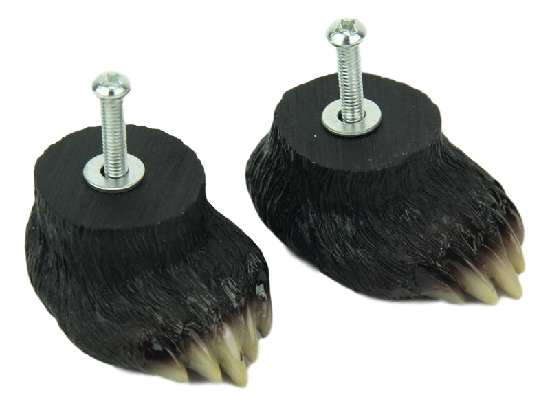 Rustic Western Black Bear Paw Drawer Cabinet Furniture Knobs Hardware Pack of 2