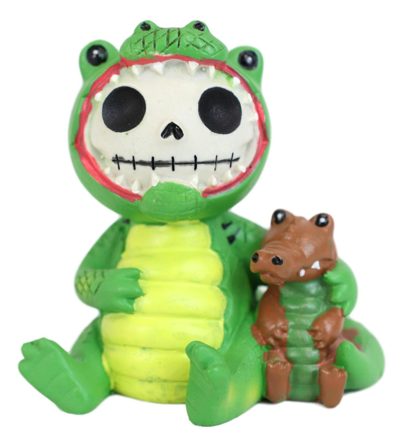Furrybones Chomper Crocodile Alligator Skeleton Monster Figurine Furry Bones