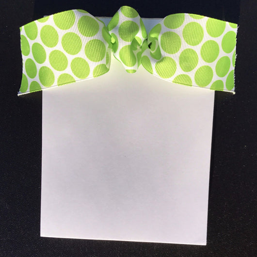 White w/Lime Green Dots