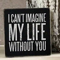 I can't imagine my life without you wood box sign