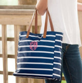 Navy Stripe Tote Bag