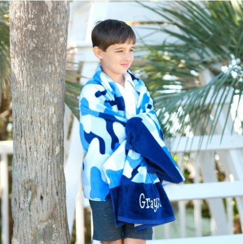 Cool Blue Camo Collection Beach Towel