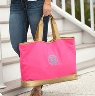 Hot Pink Cabana Tote Bag