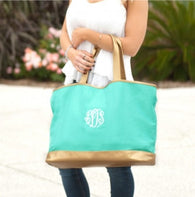 Mint Cabana Tote Bag