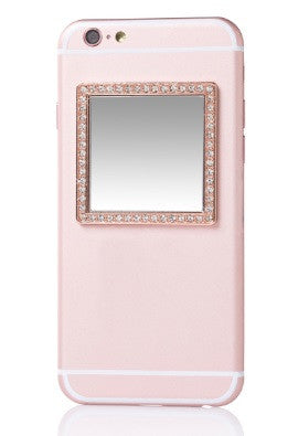 Phone Mirror - Rose Gold Square