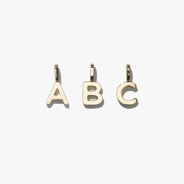 Alphabet Pendant (Single) - Gold