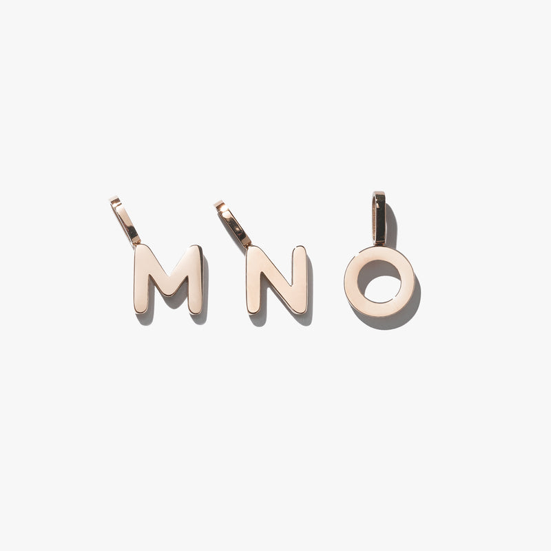 Alphabet Pendant (Single) - Rose Gold