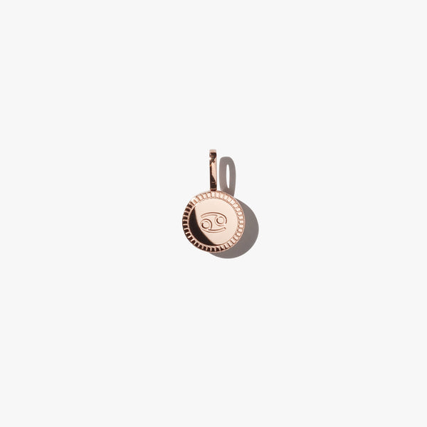 Cancer Pendant - Rose Gold