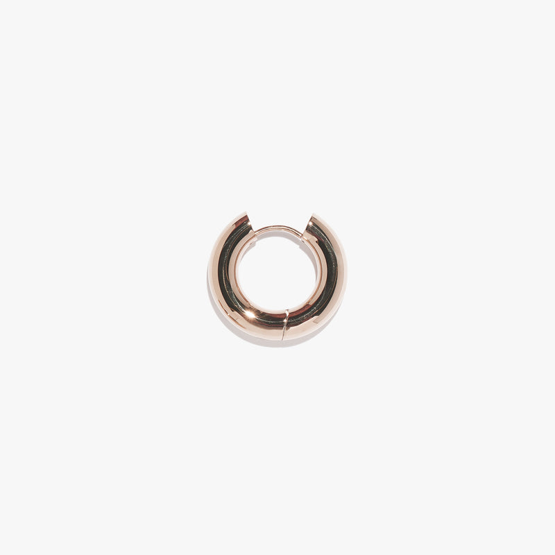 Chunky Infinity Hoop (Single) - Rose Gold