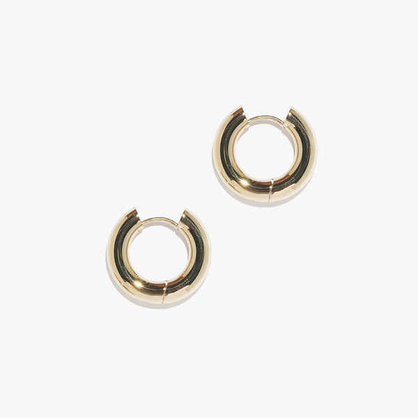 Chunky Infinity Hoops (Pair) - Gold