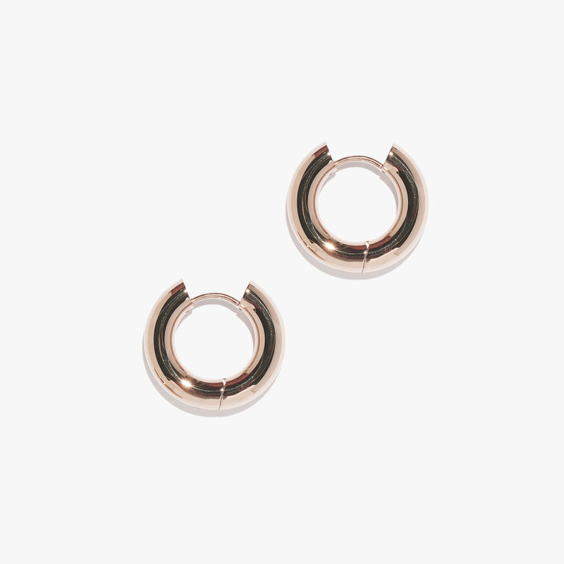 Chunky Infinity Hoops (Pair) - Rose Gold