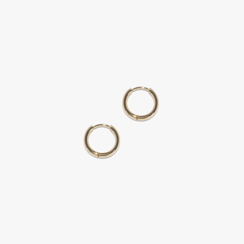 Mini Infinity Hoops (Pair) - Gold