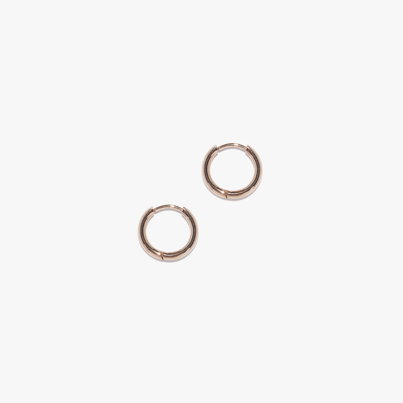 Mini Infinity Hoops (Pair) - Rose Gold