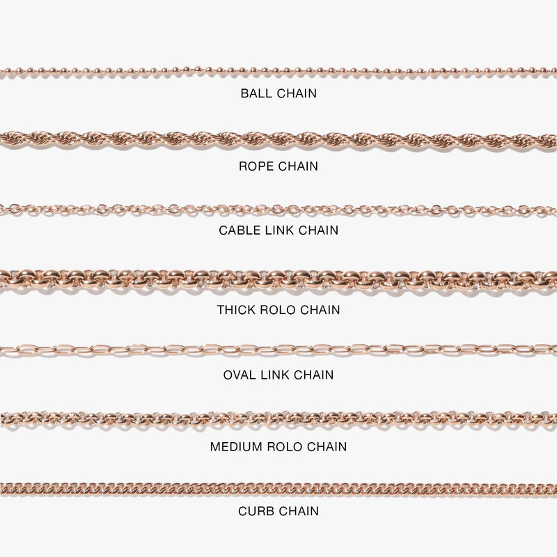 Anklet - Rope Chain Anklet - Rose Gold