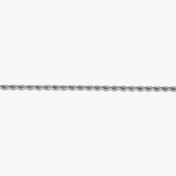Anklet - Rope Chain Anklet - Silver