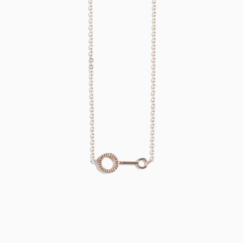 'Bubble Wand' Necklace - Rose Gold