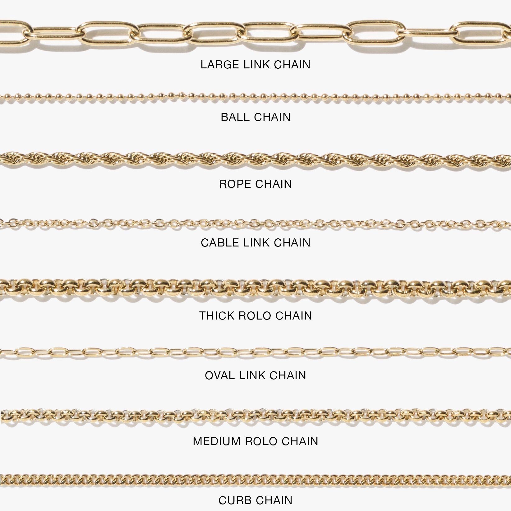 Chains - Cable Link Chain - Gold
