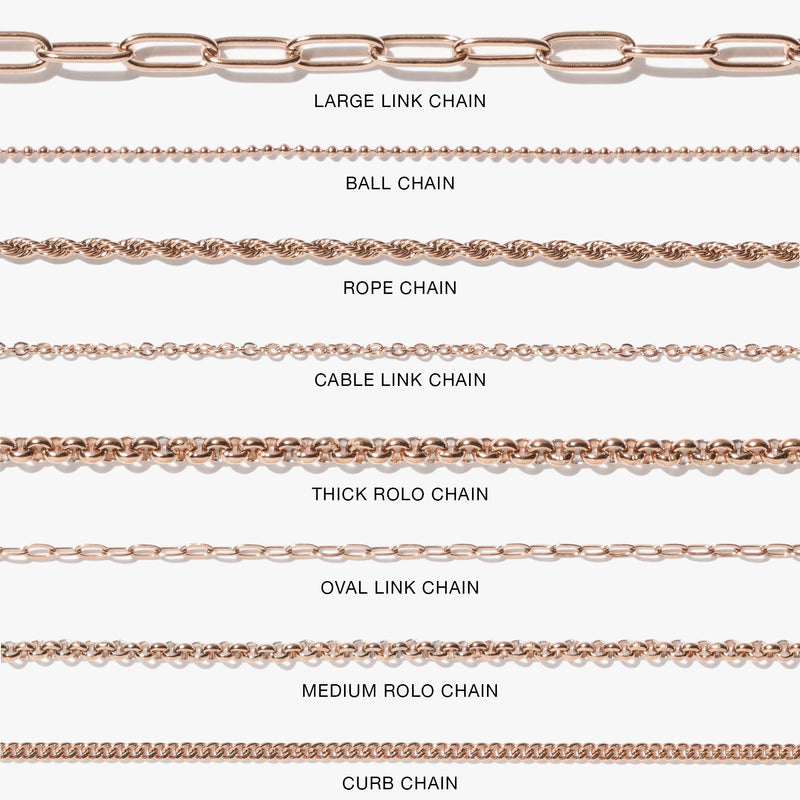 Chains - Cable Link Chain - Rose Gold