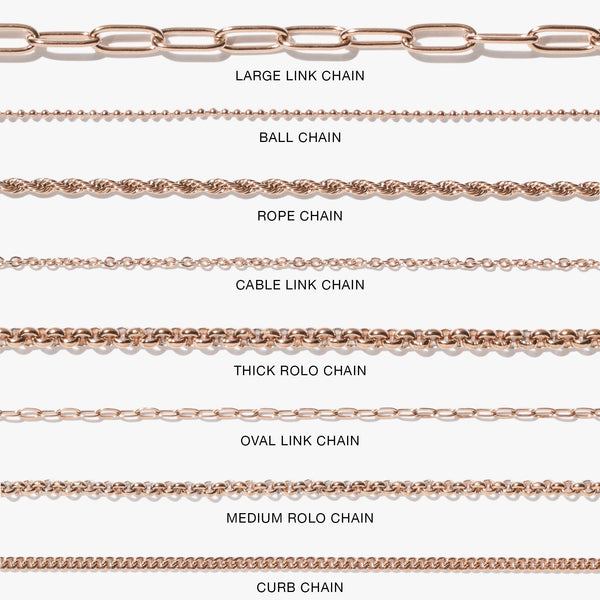 Chains - Medium Rolo Chain - Rose Gold