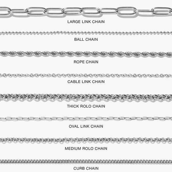 Chains - Medium Rolo Chain - Silver
