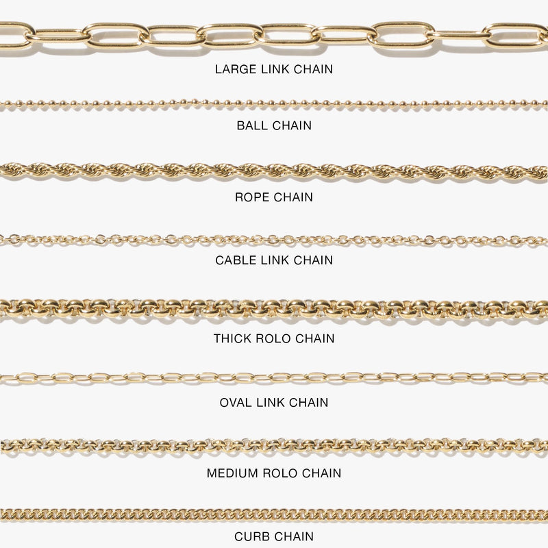 Oval Link Chain - Gold