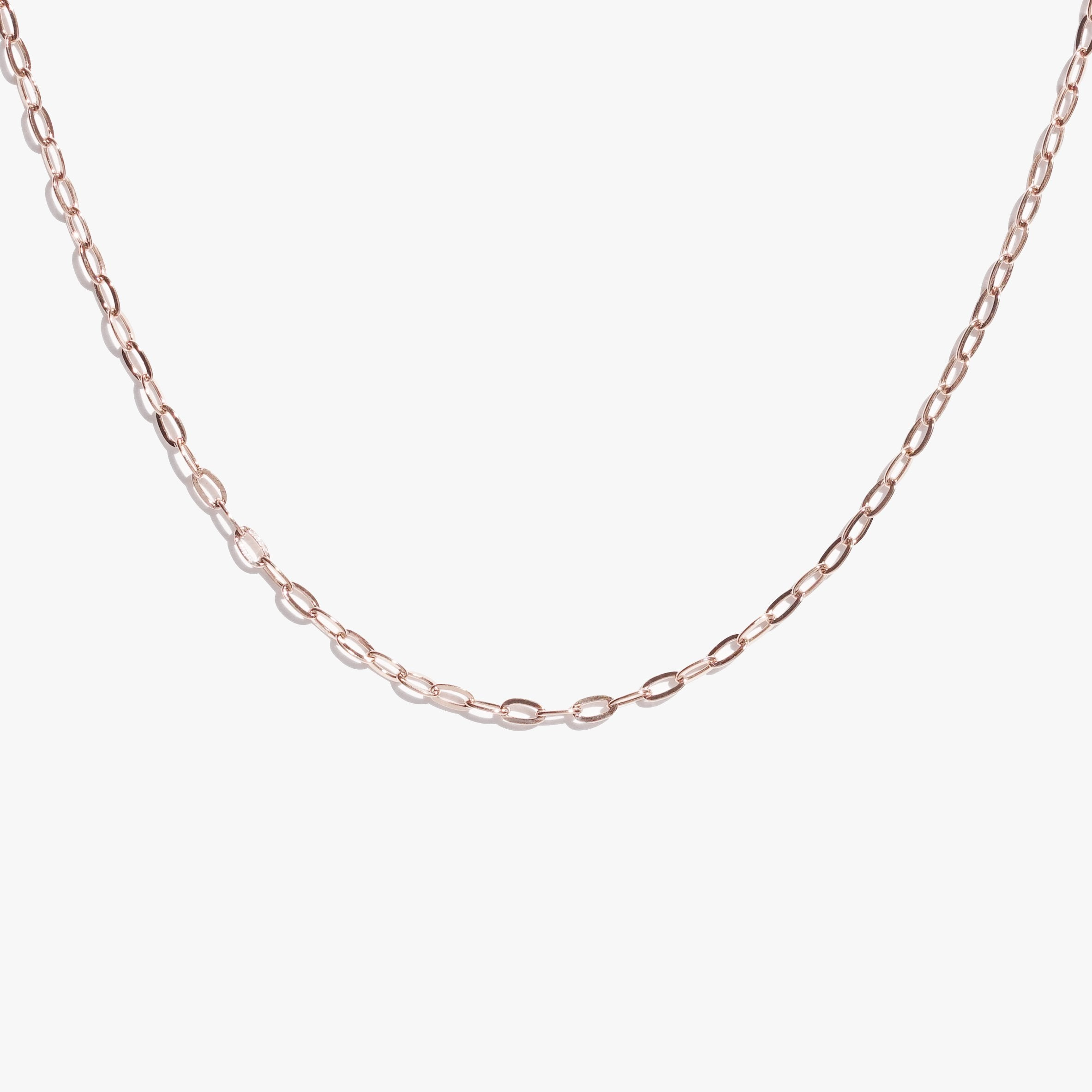 Chains - Oval Link Chain - Rose Gold