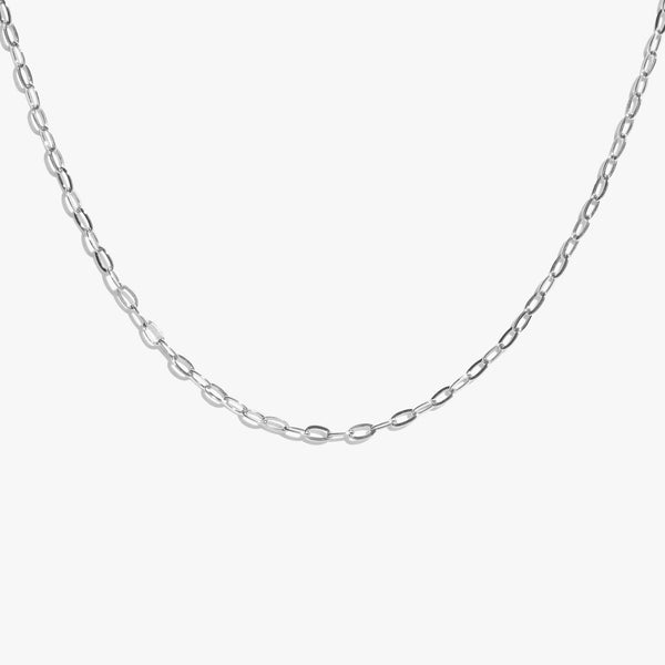 Oval Link Chain - Silver