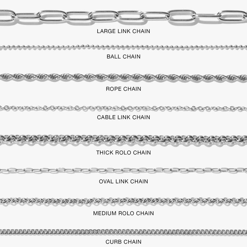 Chains - Oval Link Chain - Silver