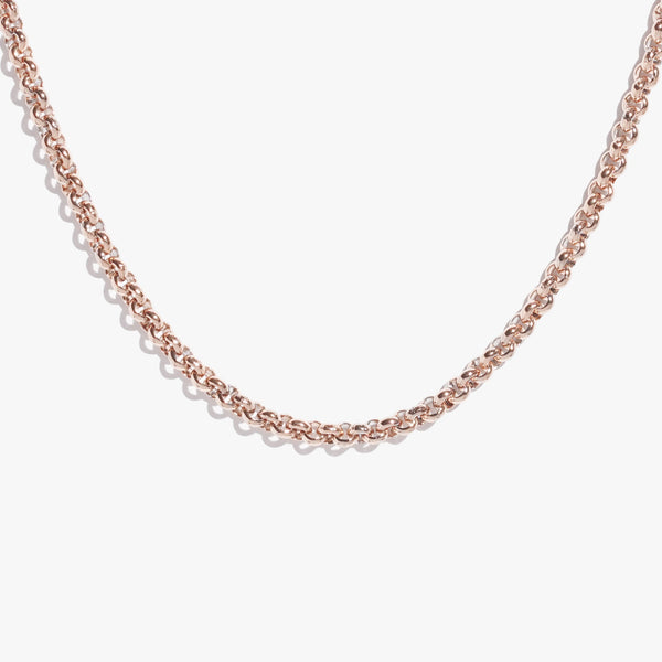 Thick Rolo Chain - Rose Gold