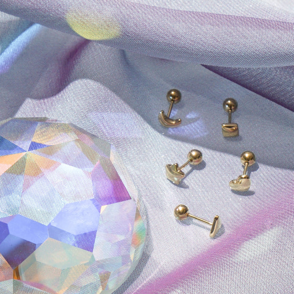 Earrings - Diamond Stud (Single) - Gold