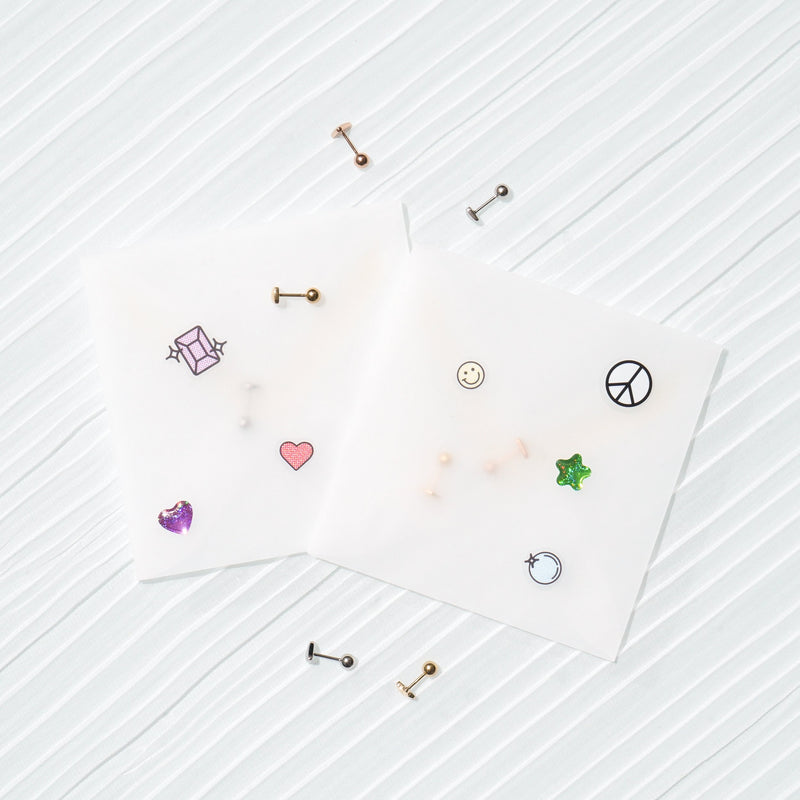 Earrings - Moon Stud (Single) - Rose Gold
