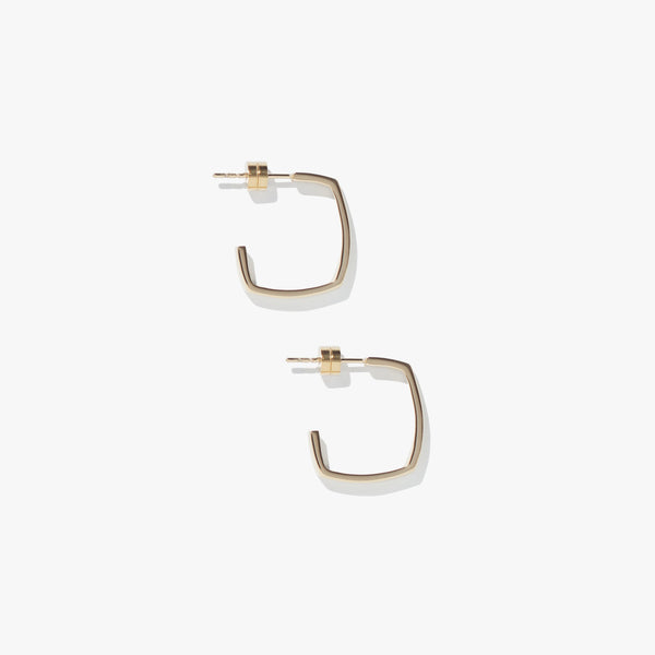 Earrings - Shapeshift Square Hoops - Gold