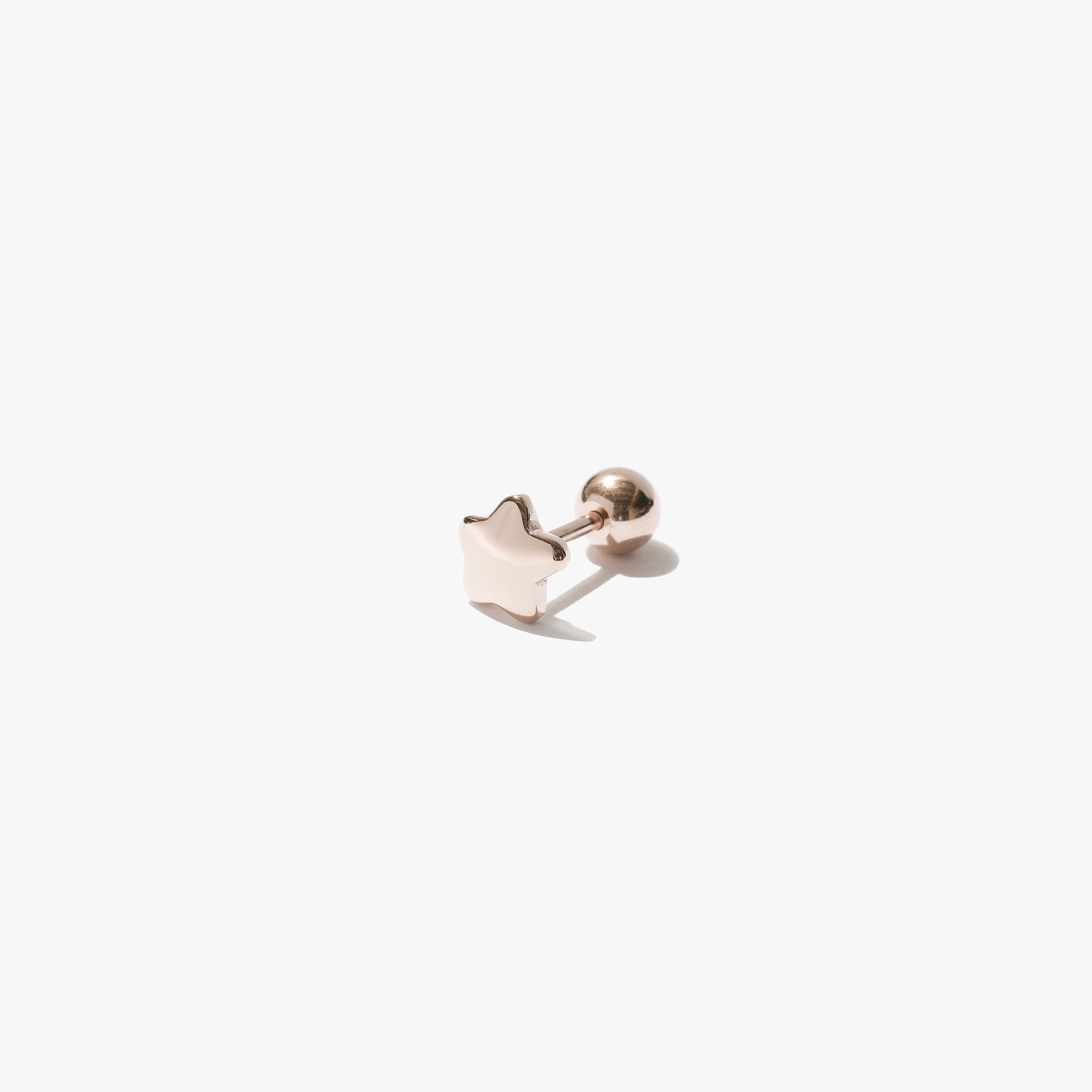 Earrings - Star Stud (Single) - Rose Gold