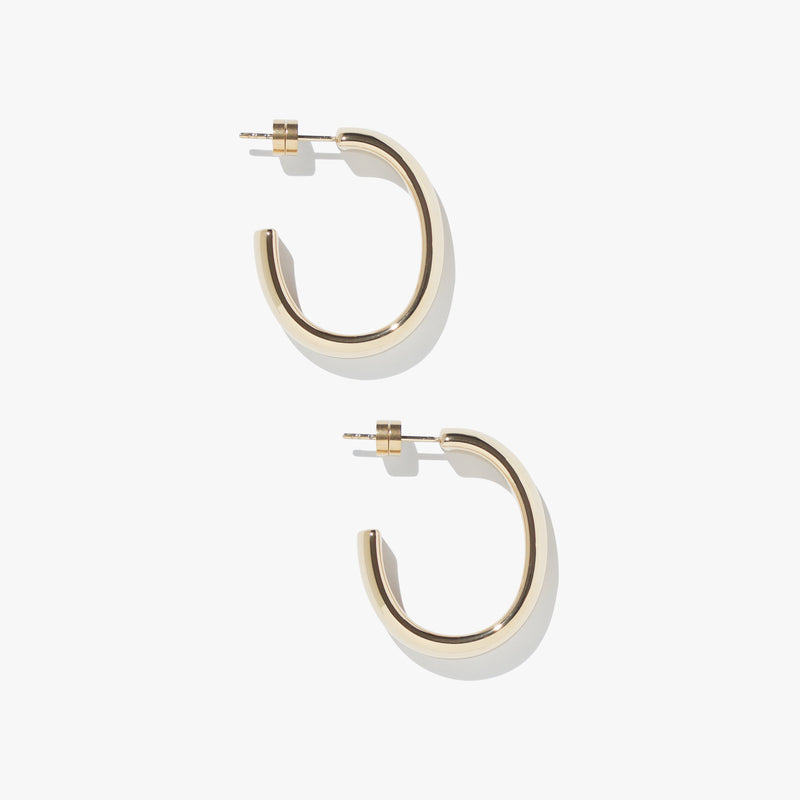 Timebend Oval Hoops - Gold