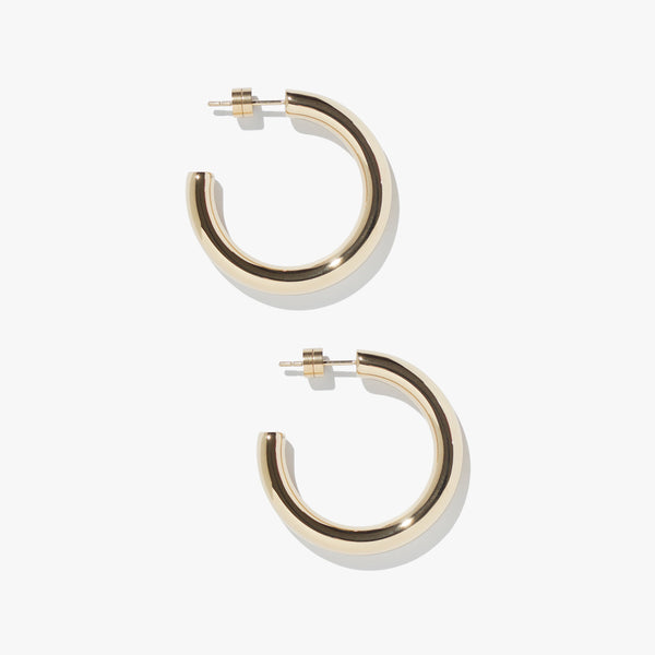 Earrings - Timetravel Chunky Hoops - M - Gold