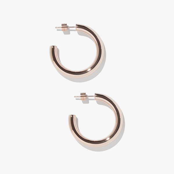 Earrings - Timetravel Chunky Hoops - M - Rose Gold