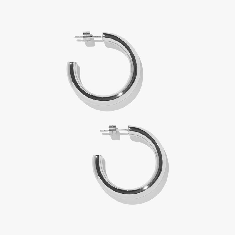 Timetravel Chunky Hoops - M - Silver