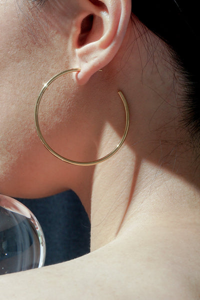 Earrings - Timetravel Skinny Hoops - L - Gold