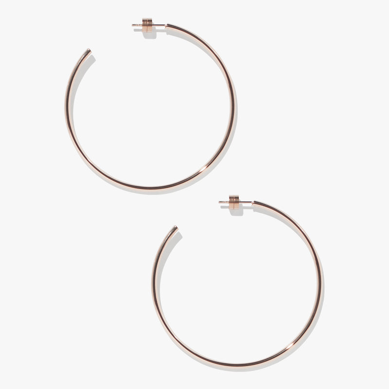 Timetravel Skinny Hoops - L - Rose Gold