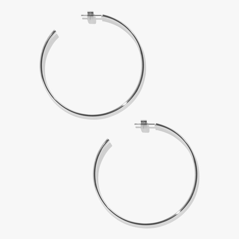 Earrings - Timetravel Skinny Hoops - L - Silver
