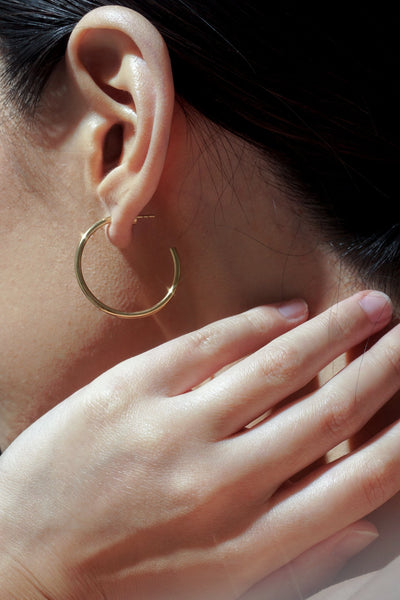 Timetravel Skinny Hoops - M - Gold